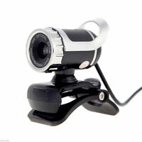 360°USB 2.0 1080P HD WebCam Web Camera Clip-on MIC for Desktop PC Laptops US