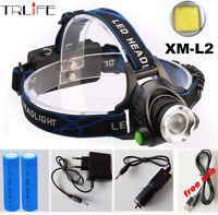 TRLIFE CREE XM-L2 LED 5000LM HeadLight HeadLamp Lamp Flashlight Light Headlamp