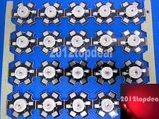 10PCS 3W Deep RED 640nm LED Plant Glow Light Emitter with 20mm star base