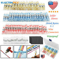 10-26AWG Waterproof Solder Sleeve Seal Heat Shrink Wire Butt Terminals Connector