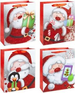 3 x Medium Large X Large Christmas Gift Bags Wrapping Party Bag Xmas Bags