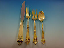 Lansdowne Gold by Gorham Sterling Silver Flatware Service 8 Set Vermeil 32 Pcs