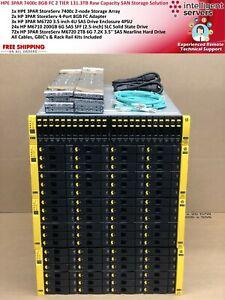 HPE 3PAR 7400c 8GB FC 2 TIER 131.3TB RAW Capacity SAN Storage Solution