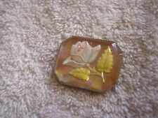 Glass With Flower Vintage Art Deco Pin