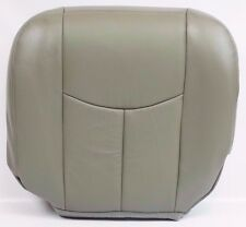 2003 2004 2005 2006 GMC Yukon Front Driver Bottom Leather HEATED Seat Cover Gray