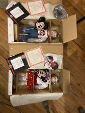 2 Walt Disney World Ashton Drake Porcelain Dolls Mickey Mouse Minnie 76032 76031