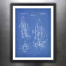 "SPACE SHUTTLE 1975 PATENT ART 18x24"" PRINT POSTER BLUEPRINT GIFT NASA (unframed)"