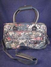 "ATLANTIC Travel Bag Carry On Luggage 14"" Forest Tapestry Shoulder EXC VINTAGE"