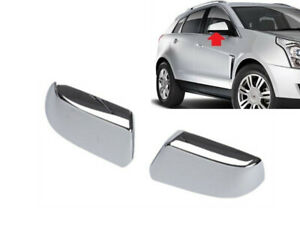 FOR 2010-2016 CADILLAC SRX TOPHALF CHROME SIDE MIRROR COVER COVERS