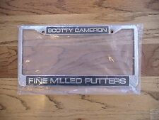 New SCOTTY CAMERON Metal License Plate Frame Tag Holder Very SUPER Rare PGA