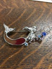 Rhinestone Mermaid Brooch Pin