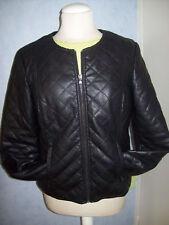 veste simili cuir intérieur fourrure noire belle qualité T4 38 40 42 cache cache