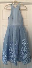 New Asos Beautiful Print Dress Size 4 New Blue Gorgeous