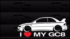 I Heart My GC8 Sticker Love Subaru Slammed JDM Japan Coupe 2.5RS Impreza