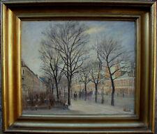 Stadtstrasse mit Pferdekutsche, Monogramm S.Chr., um 1900/20