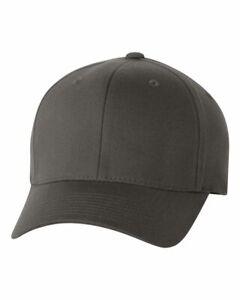 Flexfit Wooly Combed Twill Plain Baseball Cap 6277 S/M L/XL XL/2XL