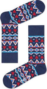 Happy Socks Men's Temple Skarpety Crew socks, TEM01 - Navy Multi