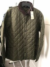 New Barbour Heritage Quilted Jacket Liddesdale Olive Mens XL Mens
