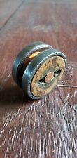 BEAUTIFUL OLD VINTAGE ANTIQUE VICTORIAN WOOD & METAL YO-YO