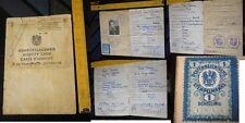 Orig. Ausweis 1947 Polizeidirektion Wien Österreich Photo Foto Marke 1 Schilling