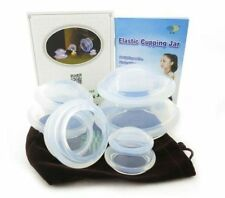 4 Cup Premium Transparent Silicone Cupping Set for Chinese Cupping and Massage