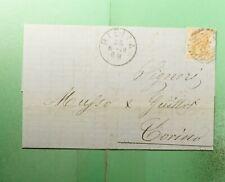 DR WHO 1878 ITALY BIELIA FANCY CANCEL 42 F/L TO TORINO  g38281