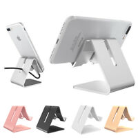 Universal Aluminum Mobile Phone Holder Desk Tablet Stand For iPhone Samsung Ipad