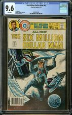 6 Six Million Dollar Man Pennant or Keychain silver tone secret bottle opener