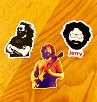 Grateful Dead Jerry Garcia 3-Pack Premium Quality Decal Sticker 3 inch