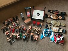 WWE Wresting Bundle - 28 Figures - Ring - Belts - Accessories-Rey Mysterio Masks