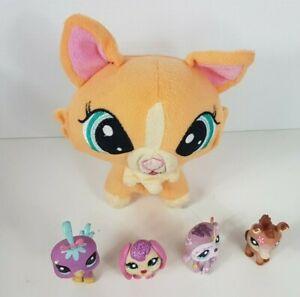 Littlest Pet Shop Cat Plush and 4x Figures