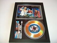 THE WHO  SIGNED  GOLD CD  DISC 8143