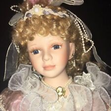 "23"" Traditions Doll Collection BLUSH GOWN Blonde BEAUTIFUL BRIDE Porcelain"