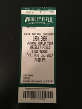 LADY GAGA Joanne World Tour Concert Ticket Stub - August 25th 2017 WRIGLEY FIELD