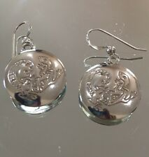 NATIVE AMERICAN DESIGN Pressed STERLING Silver LIZARD EARRINGS