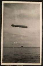 1932 Germany Graf Zeppelin RPPC Postcard Cover LZ 127 To Danzig Via Luxembourg