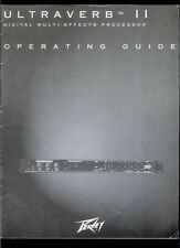 Rare Orig Factory Peavey Ultraverb II Guitar Special Effects Owner's Manual