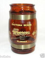 Daytona Beach Souvenir Barrel Mug features Daytona Speedway / Vintage 1970's