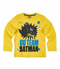 Boys Girls Kids Character Long Sleeve T-shirt Top Age 2-12 Year Lego Batman 01 up to 6 Years