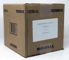 2013 BOWMAN PLATINUM BASEBALL HOBBY BOX CASE (12 BOXES) FACTORY SEALED BRAND NEW