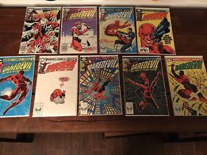 Daredevil Marvel Comic Lot 180, 182 - 189
