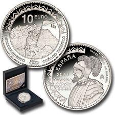 ESPAÑA SPAIN ANIVERSARIO DESCUBRIMIENTO PACIFICO 2013 10 EUROS PLATA PROOF