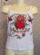 """Ladies Sun TOP TRUE LOVE Vintage Tattoo Design  Vest 30"""" Chest. Rockabilly"""