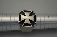 Edelstahl Ring mit Kreuz Gothic Mystik Herren