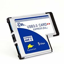 CSL - USB 3.0 SuperSpeed PCMCIA Express Card  54mm   2 Port   compatible Windows