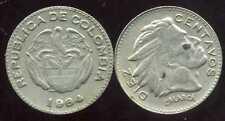 COLOMBIE 10  diez centavos   1964