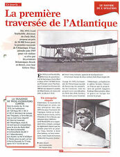 1913 Transatlantic flight of Alcock & Brown Daily Mail prize Vikers FRANCE FICHE