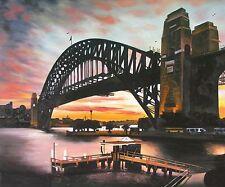 PRINT POSTER sydney bridge photo harbour painting Australia Fits A0 Glass Frame