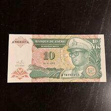 New listing Zaire Banknote - 10 Nouveaux Makuta - Free Shipping - 1993