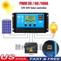 30-60A Solar Panel Regulator Charge PWM Controller Auto Focus Tracking 12V/24V